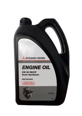 МОТОРНОЕ МАСЛО MITSUBISHI ENGINE OIL SEMI-SYNTHETIC SN/CF SAE 5W-30